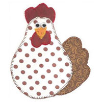 Applique Galinha Madame