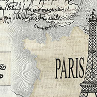 Tecido - Mapa de Paris - Dream of Paris