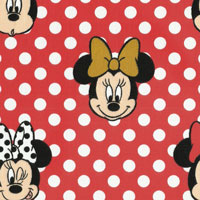 Tecido - Minnie Mouse 02 - Walt Disney