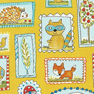 Tecido - Little Animals 01 - Animals and Chevron