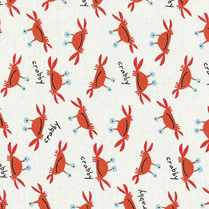 Tecido - Crabs - Animals and Chevron